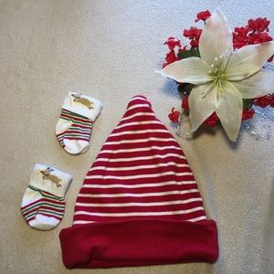 Baby Gap Reversible Holiday hat and socks
